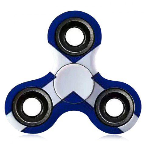 Discount Stress Relief Toy EDC Patterned Fidget Spinner BLUE/WHITE