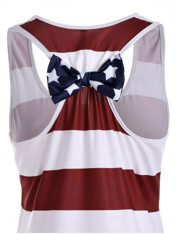 Outfits American Flag Print Patriotic Racerback Tank - XL DEEP RED Mobile