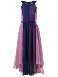 Plus Size Sleeveless High Low Flowing Dress