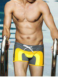 Color Block Stretch Swimming Trunks