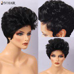 Siv Hair Fluffy Short Curly Human Hair Wig