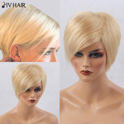 Siv Hair Short Side Bang Silky Straight Human Hair Wig