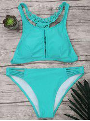 Braided Racerback Strappy Bikini Set