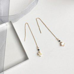 Metallic Link Chain Star Drop Earrings