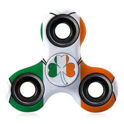 Stress Relief Toy EDC Patterned Fidget Spinner - GREEN+ORANGE