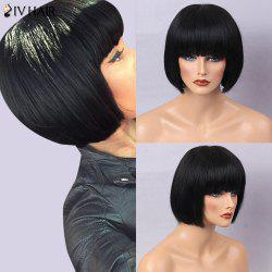 Siv Hair Full Bang Silky Straight Bob Short Human Hair Wig