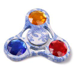 Colorful Fake Crystal Embellished Fidget Spinner Gyro Focus Toy