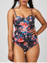 Underwire Moulded Floral Tankini Set