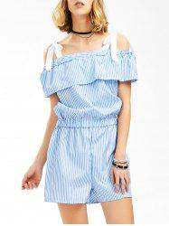 Striped Flounced Romper