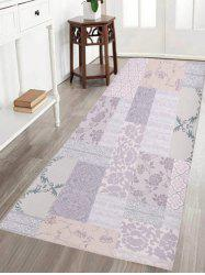 Geometric Flower Water Absorption Skid Resistant Flannel Rug