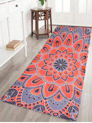 Bohemian Flower Antislip Flannel Bathroom Runner Carpet