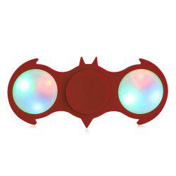 Fiddle Toy Bat Fidget Spinner with Colorful Flashing LED Lights - RED