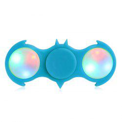 Fiddle Toy Bat Fidget Spinner with Colorful Flashing LED Lights - AZURE