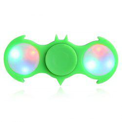 Fiddle Toy Bat Fidget Spinner with Colorful Flashing LED Lights - GREEN