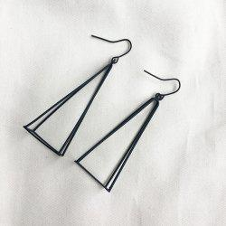 Metal Triangle Geometric Hook Earrings