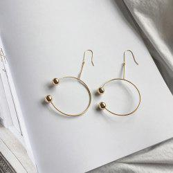 Metal Circle Beads Vintage Hook Earrings
