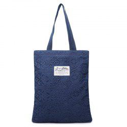 Lace Cover Canvas Shopper Bag