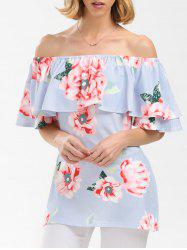 Floral Flounce Off The Shoulder Top