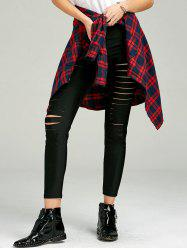 Ladder Cut Out Skinny Pants