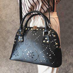 Hollow Out Stud Handbag -