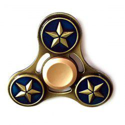 Star Pattern Finger Gyro Alloy Fidget Spinner Focus Toy