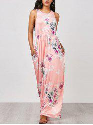 Floral Racerback Maxi Sleeveless Summer Dress
