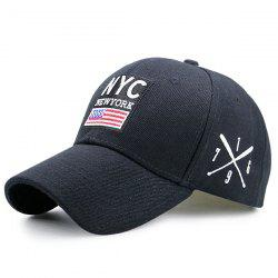 Letters American Flag Patchwork Baseball Hat
