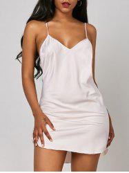 Backless Criss Cross Slip Babydoll