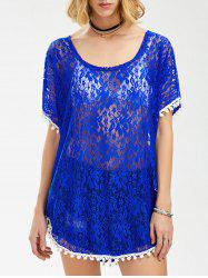 See Through Lace Tunic Top