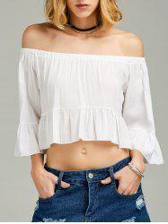 Bell Sleeve Off The Shoulder Flounce Top
