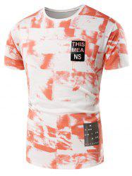 Tie Dye Graphic Print Short Sleeve T-Shirt