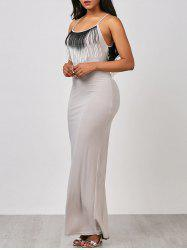 Racerback Fringed Maxi Dress