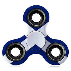 Stress Relief Toy EDC Patterned Fidget Spinner - BLUE/WHITE