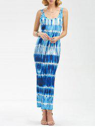 Sleeveless Maxi Tie Dye Pencil Dress