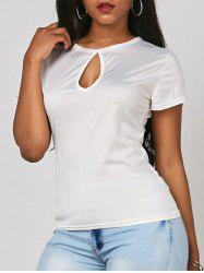 Keyhole Cut Out Tee