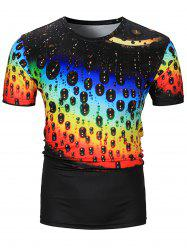 3D Drop of Water Ombre Print T-Shirt