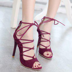 Tie Up Peep Toe Sandals
