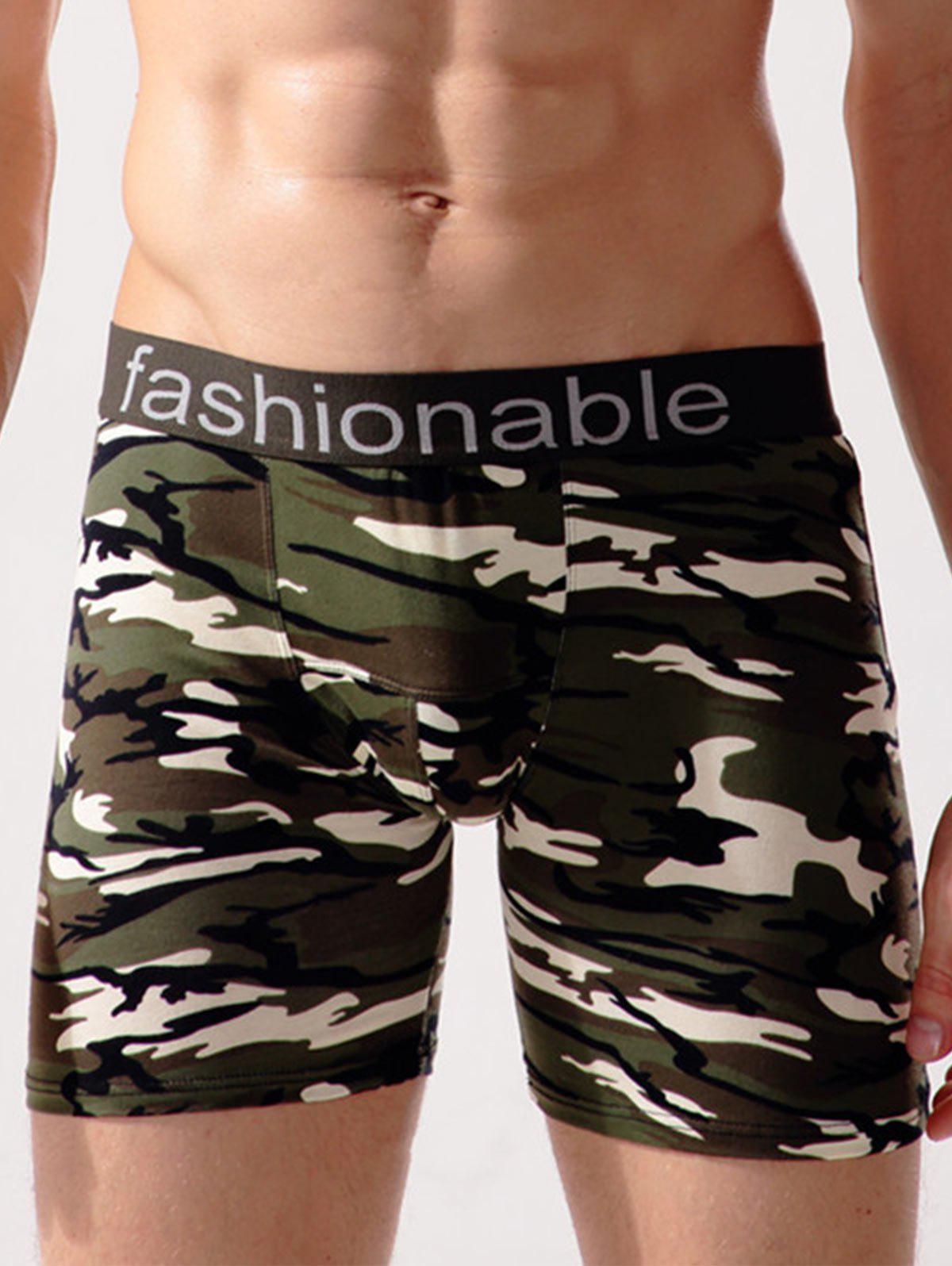 Store Stretch Camo Swimming Trunks