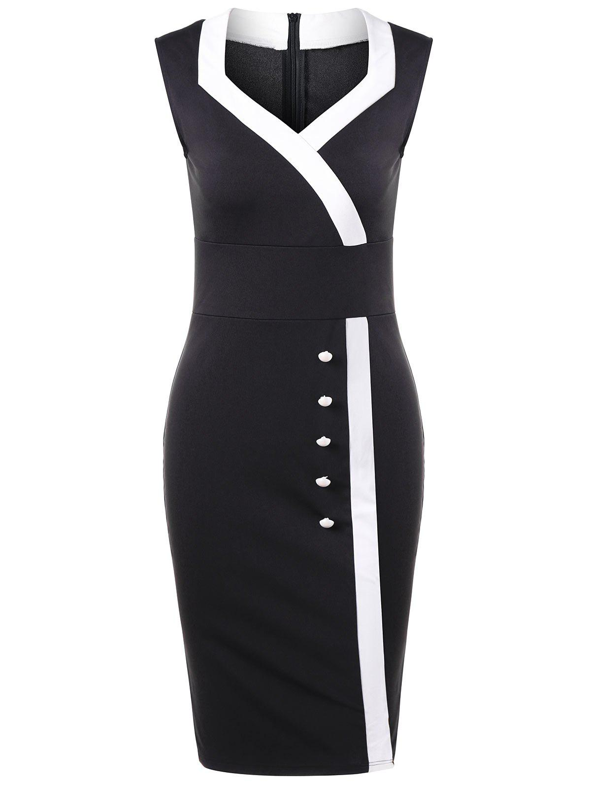Trendy Sweetheart Neck Tight Pencil Fitted Sheath Dress