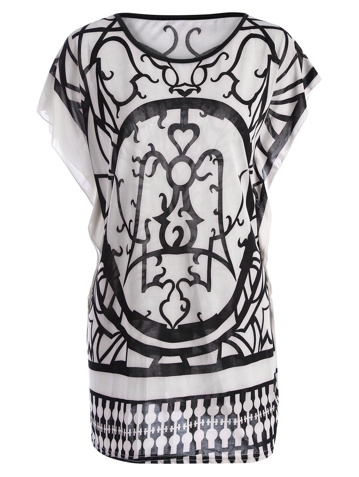 Best Tribal Print Butterfly Sleeve Top