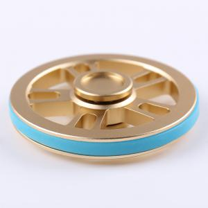 Fiddle Toy Wheel Fidget Metal Spinner with Elastic Bands -