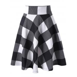 Checked High Waisted Skirt