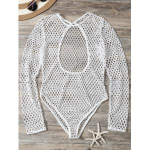Openwork See-Through Bodysuit Cover Up