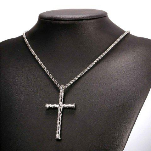 Sale Cross Stainless Steel Pendant Necklace - STAINLESS STEEL  Mobile