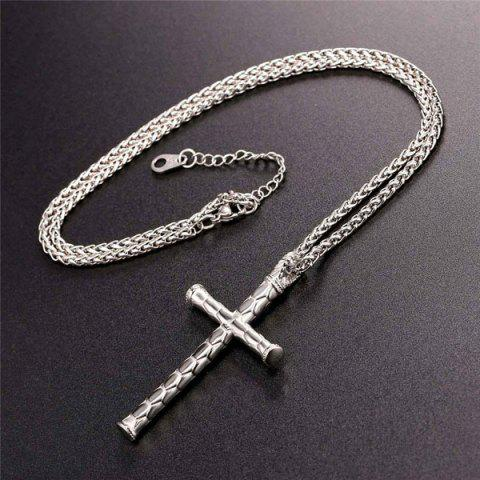 New Cross Stainless Steel Pendant Necklace - STAINLESS STEEL  Mobile