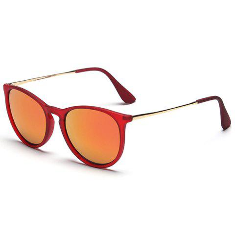 Reflective Anti UV Retro Driver Sunglasses - Jacinth - S