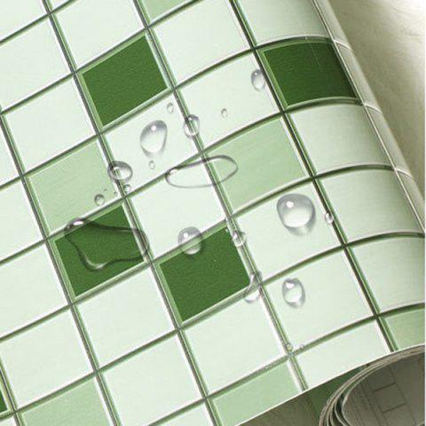 New SINMORS Mosaic Greaseproof Paper Tea Oil Kitchen Wall Stickers - GREEN  Mobile
