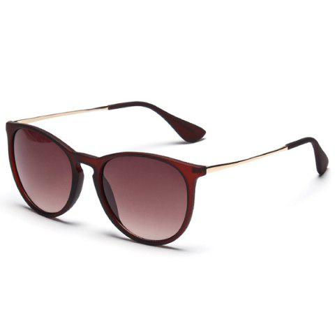 Mirrored Vintage Anti UV Driver Sunglasses - Dark Brown C4