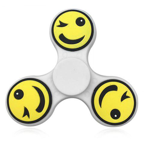 Discount Emoticon Pattern Finger Gyro Fidget Spinner EDC Fiddle Toy YELLOW