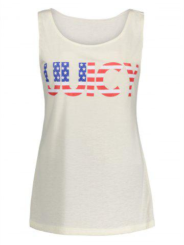 American Flag UUICY Graphic Top - Off-white - Xl